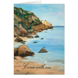 come with me - card