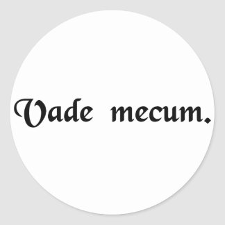 Come with me. classic round sticker