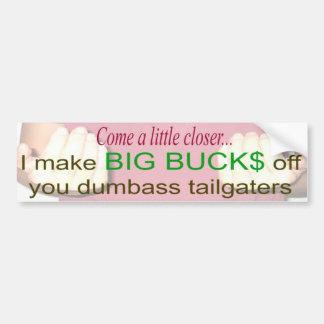comecloser bumper sticker