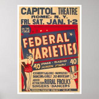Comedia a montones Roma NY WPA 1937 Póster