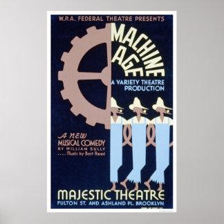 Comedia de la edad de máquina WPA 1937 Poster
