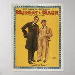 Comedia de teatro Murray y Mack del vintage Poster