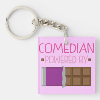 Comedian Chocolate Gift for Her Keychain