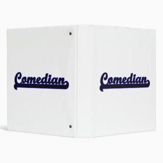 Comedian Classic Job Design Binder