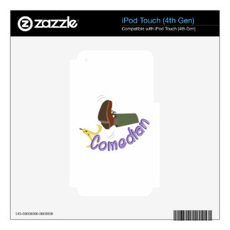 Comedian Decals For iPod Touch 4G