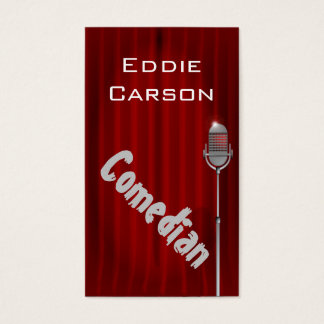 Comedian Entertainment Comedy Club Theater Business Card