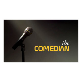 Comedian Entertainment Performer Comedy Theater Business Card