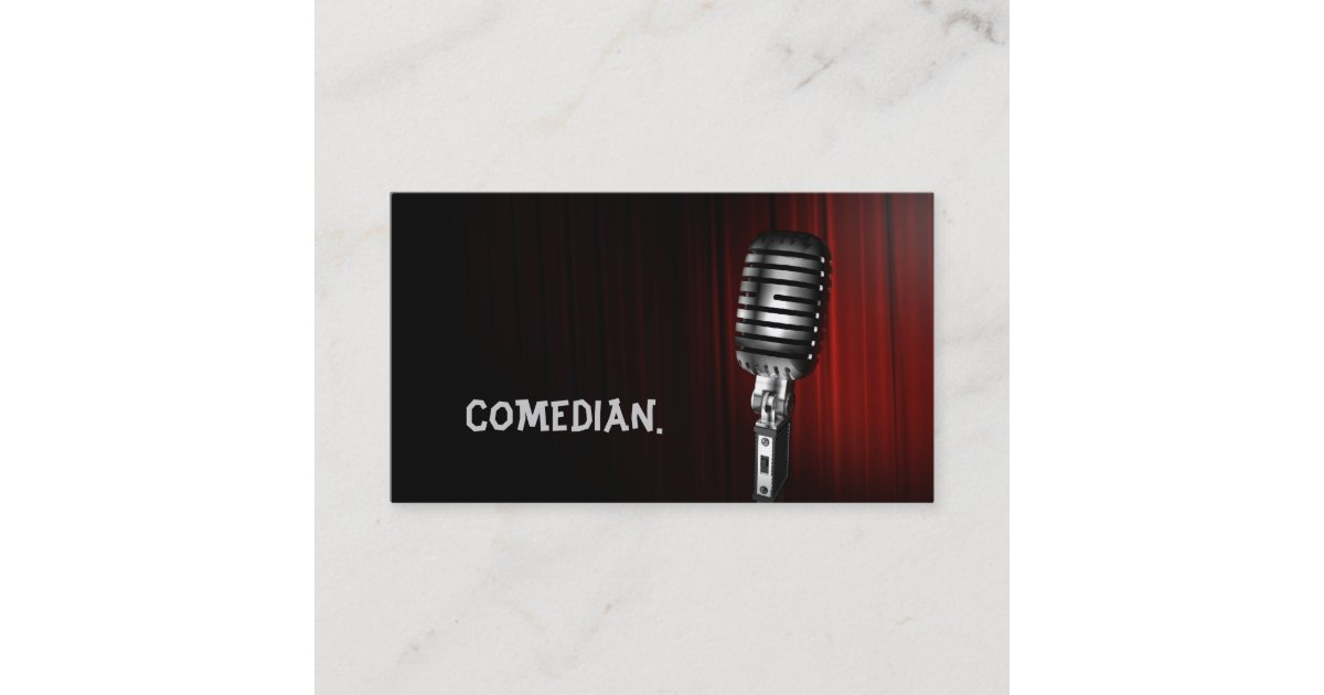 Comedian Entertainment Performer Comedy Theater Business Card ...
