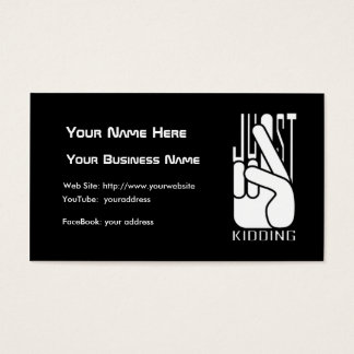 Comedian Just Kidding Business Card