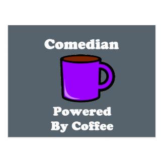 """Comedian"" Powered by Coffee Postcard"