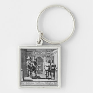 Comedians at the theatre of Hotel de Bourgogne Keychain