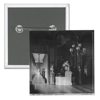 Comedie Francaise, view of the foyer 2 Inch Square Button