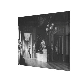 Comedie Francaise, view of the foyer Stretched Canvas Print