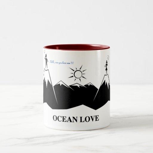 Comedoes - amor del océano tazas