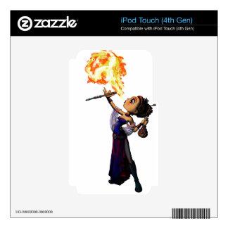 Comedor de fuego iPod touch 4G calcomanías