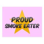 Comedor de humo orgulloso tarjeta postal