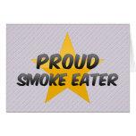 Comedor de humo orgulloso tarjetón
