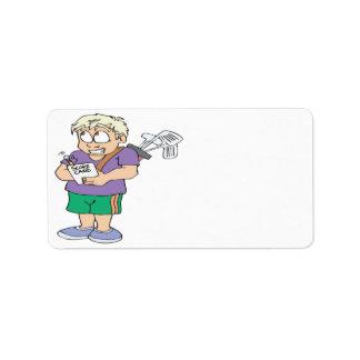 Comedor de la calabaza del tramposo del tramposo etiquetas de dirección