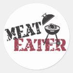 Comedor de la carne etiqueta redonda