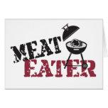 Comedor de la carne felicitación