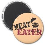Comedor de la carne imanes de nevera