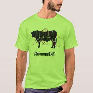 ¡Comedor de la carne! La carne de vaca sabrosa Playera
