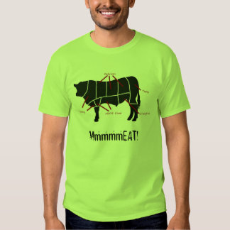 ¡Comedor de la carne! La carne de vaca sabrosa Playeras