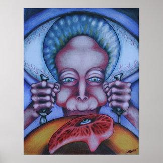 Comedor de la carne - lona posters