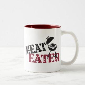 Comedor de la carne tazas de café