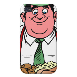 Comedor de la salchicha iPhone 4/4S carcasa
