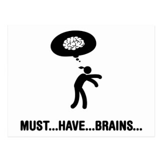 Comedor del cerebro postales