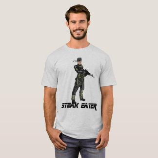 Comedor del filete - camiseta con Hank sólido