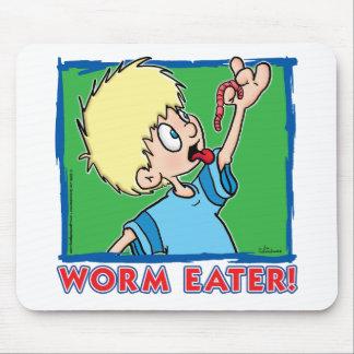 Comedor del gusano alfombrillas de raton
