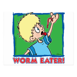 Comedor del gusano tarjetas postales