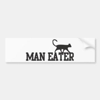 Comedor del hombre pegatina para auto