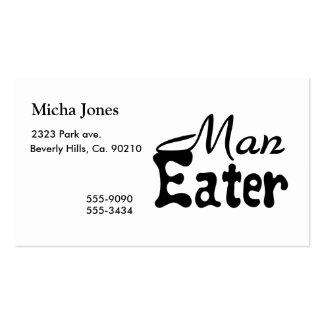 Comedor del hombre tarjetas de visita