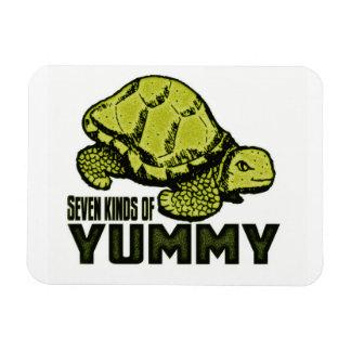 Comedor divertido de la tortuga rectangle magnet