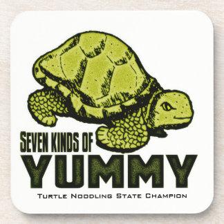 Comedor divertido de la tortuga posavaso