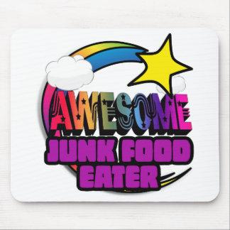 Comedor impresionante de Junk Food del arco iris Alfombrilla De Raton