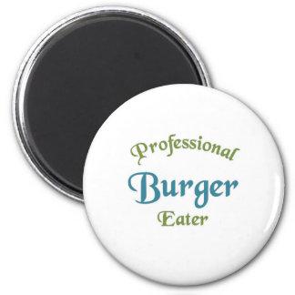 Comedor profesional de la hamburguesa imanes para frigoríficos