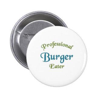 Comedor profesional de la hamburguesa pin redondo de 2 pulgadas