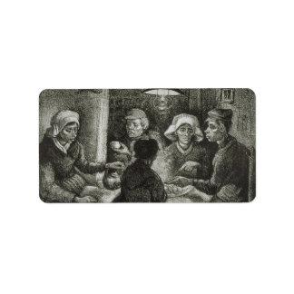 Comedores de la patata de Vincent van Gogh Etiquetas De Dirección