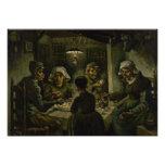 Comedores de la patata de Vincent van Gogh Impresión Fotográfica