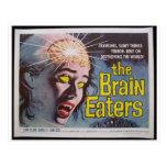Comedores del cerebro tarjeta postal