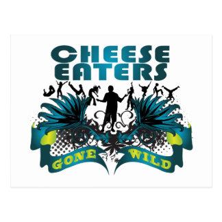 Comedores del queso idos salvajes postal