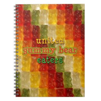 comedores gomosos unidos del oso libros de apuntes