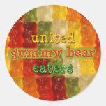 comedores gomosos unidos del oso etiqueta