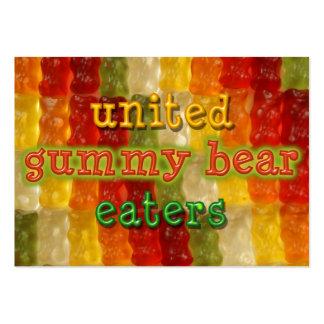comedores gomosos unidos del oso tarjetas de visita grandes