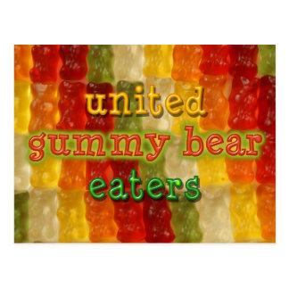 comedores gomosos unidos del oso tarjeta postal