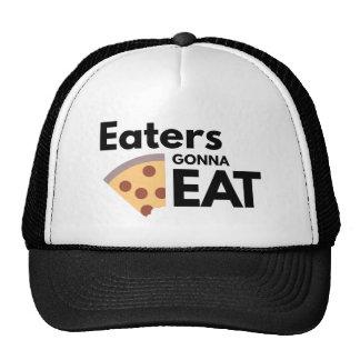 Comedores que van a comer gorros